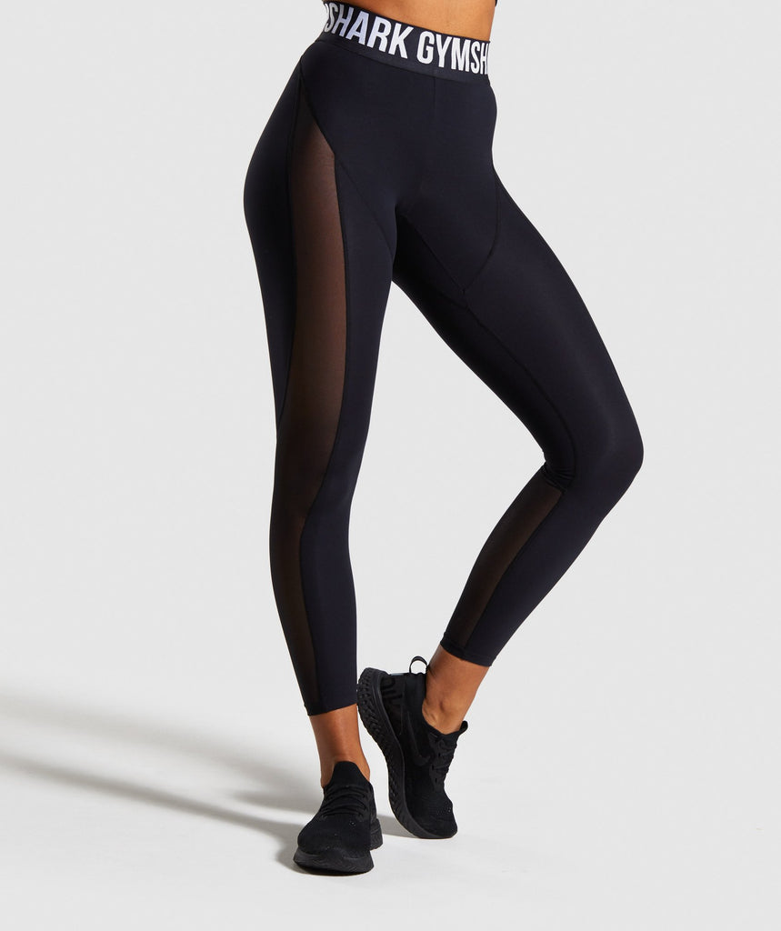 Gymshark Movement Mesh Leggings - Black 1