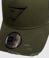 Gymshark New Era Distressed Trucker - Green 9