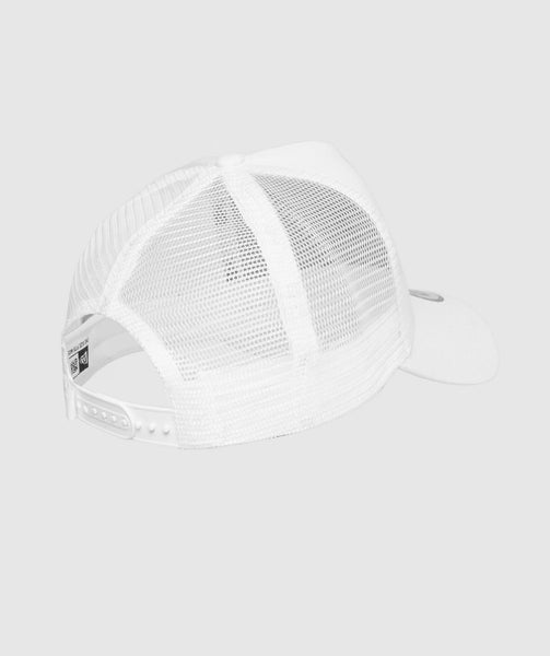 Gymshark New Era Mesh Trucker - White/Black 4