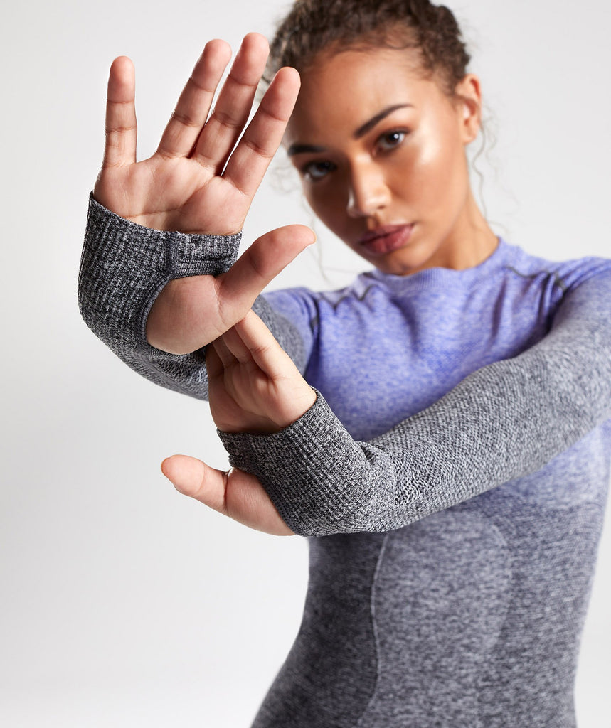 Gymshark Ombre Seamless Long Sleeve Top - Indigo/Black 5