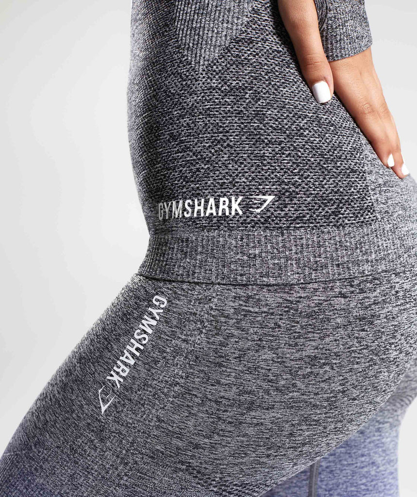 Gymshark Ombre Seamless Long Sleeve Top - Indigo/Black 6