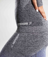 Gymshark Ombre Seamless Long Sleeve Top - Indigo/Black 12