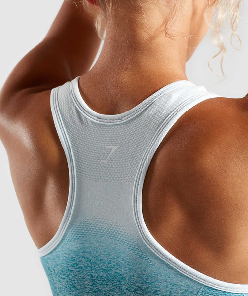 Gymshark Ombre Seamless Sports Bra  - Deep Teal/Ice Blue 4