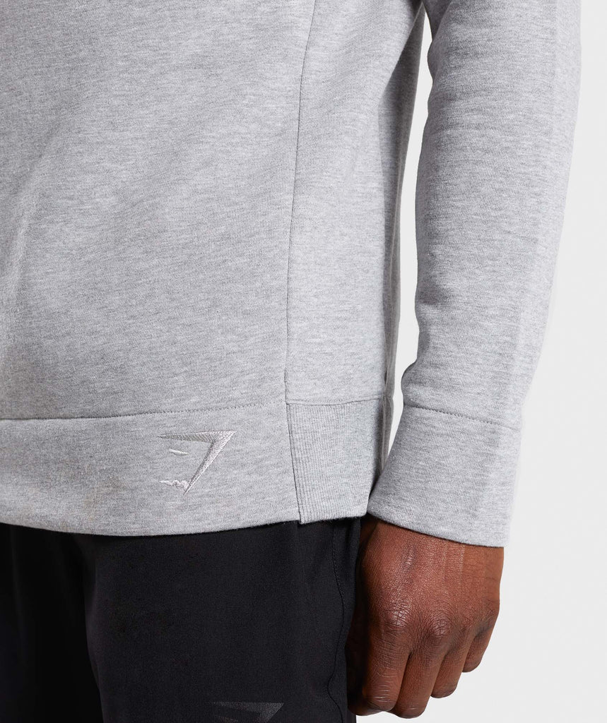 Gymshark Oversized Sweater - Light Grey Marl 6