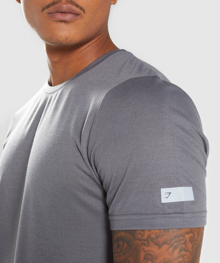 Gymshark Perforated Longline T-Shirt - Smokey Grey 5