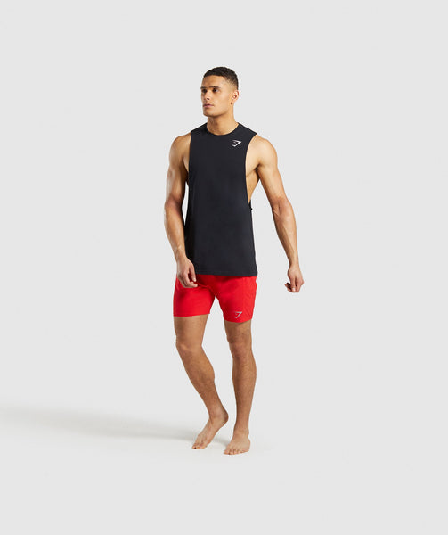 Gymshark Performance Board Shorts - Red 3