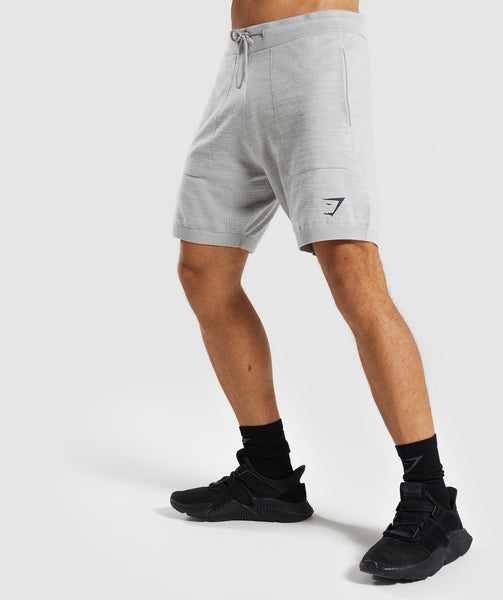 Gymshark Pinnacle Knit Shorts - Light Grey Marl 4