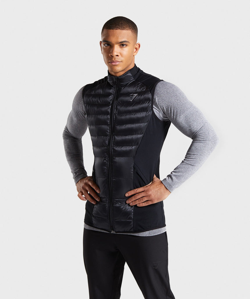 Gymshark Power Lightweight Gilet - Black 1