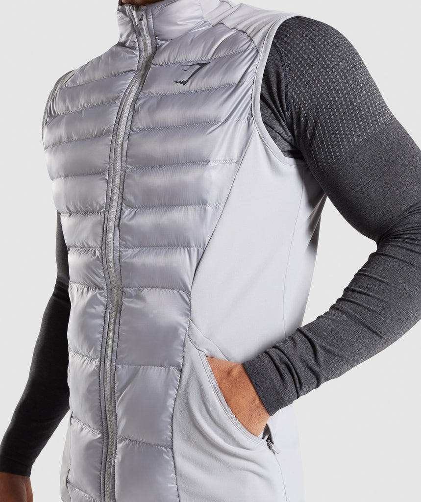 Gymshark Power Lightweight Gilet - Light Grey 5