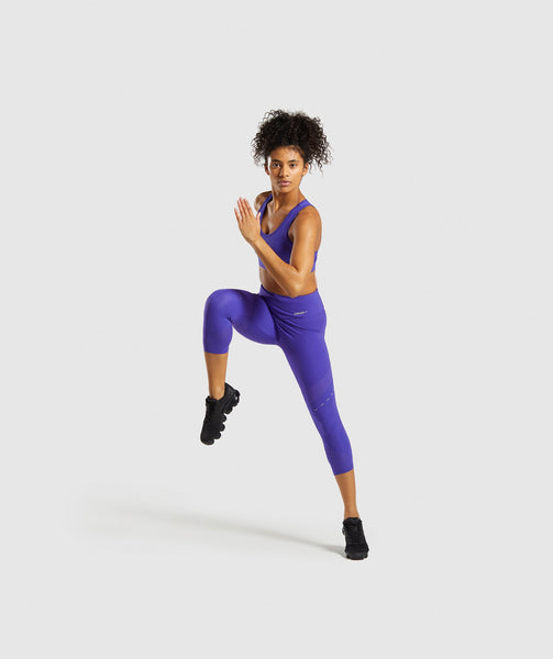 Gymshark Pro Perform Crop Leggings - Indigo 3