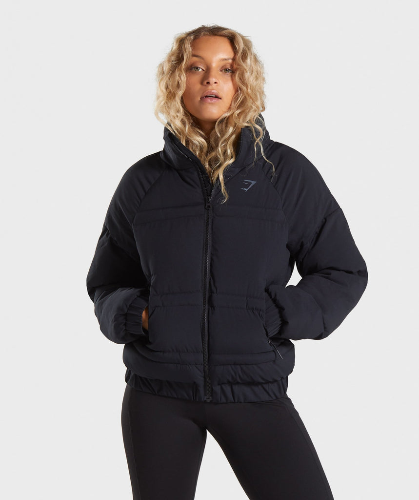 Gymshark Essential Puffer Jacket - Black 1