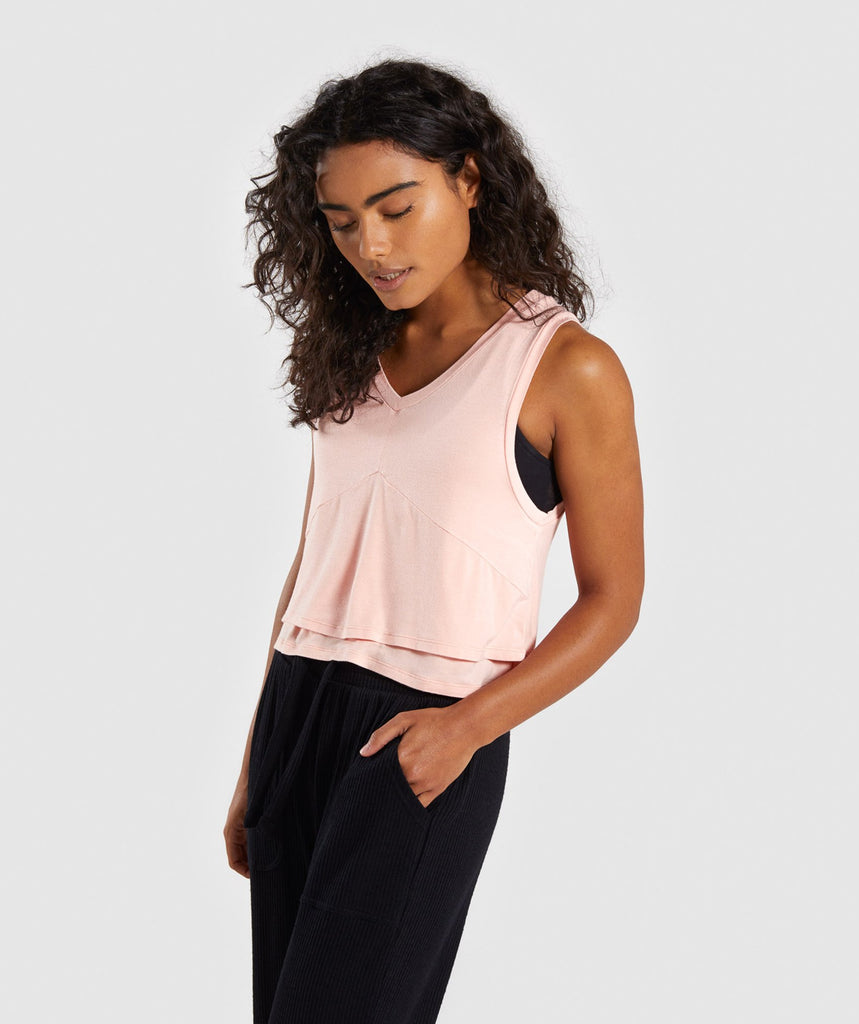 Gymshark Relaxed Crop Top - Washed Peach 1
