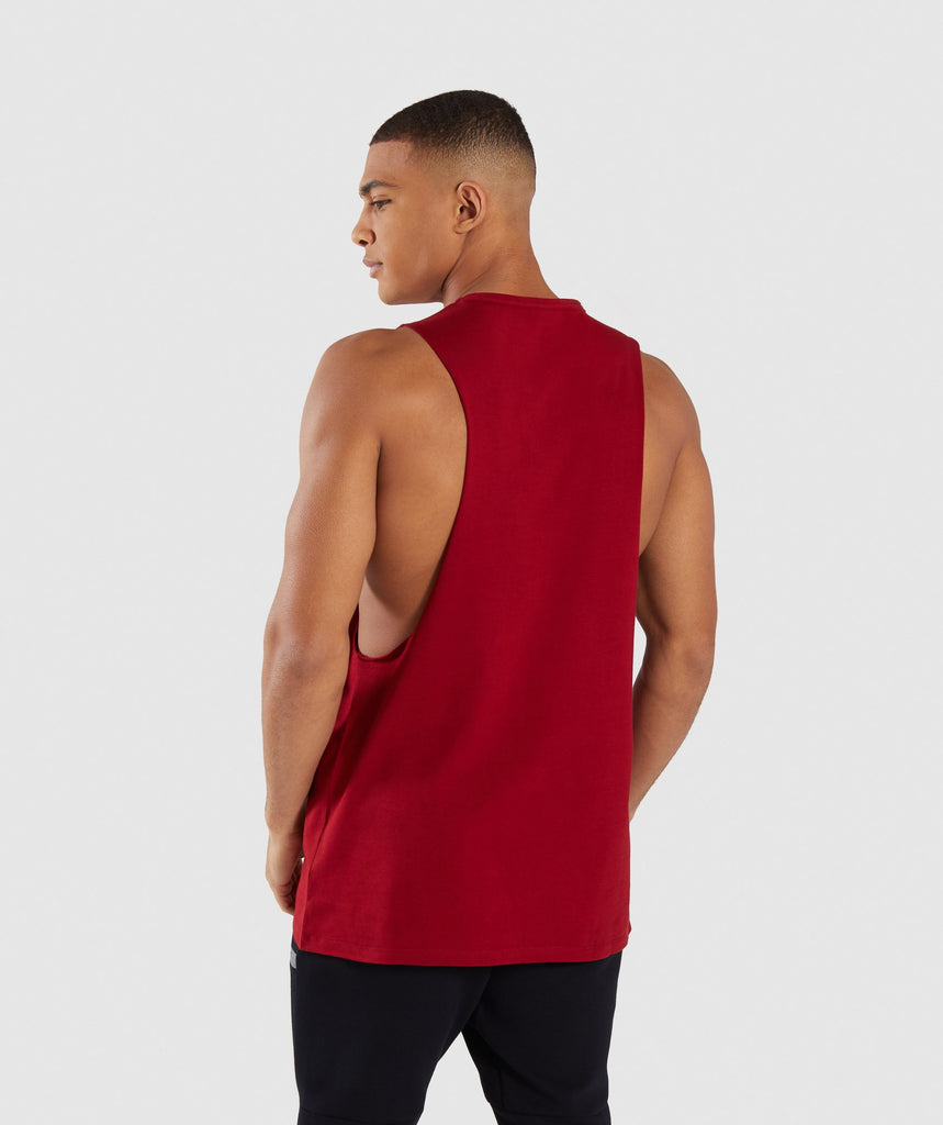 Gymshark Reverse Tank - Full Red 2