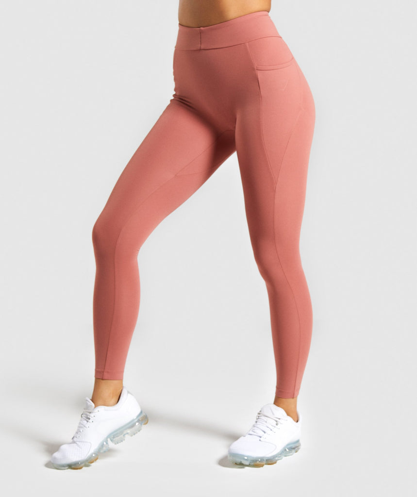 Gymshark Sculpt Leggings - Deep Blush 1