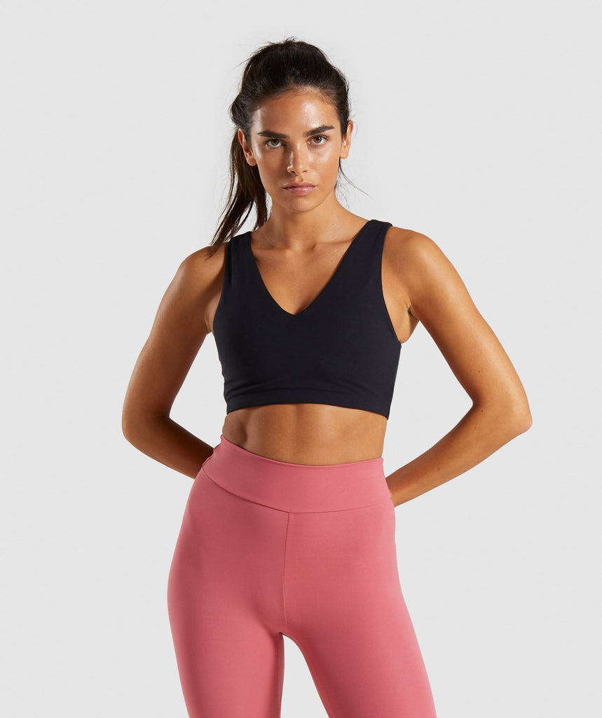 Gymshark Solo Sports Bra - Black 1