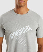 Gymshark Score T-Shirt - Light Grey Marl 12