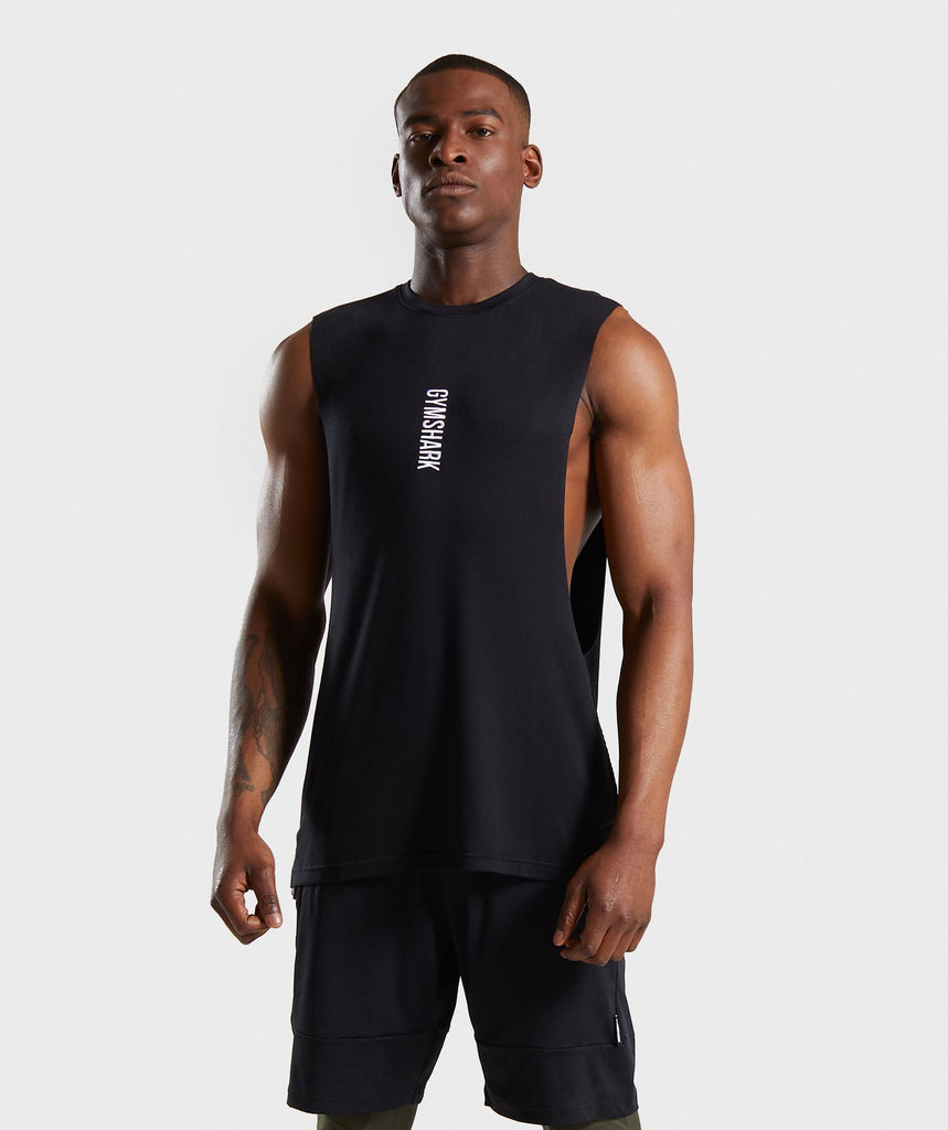 Gymshark Shadow Drop Armhole Tank - Black 1