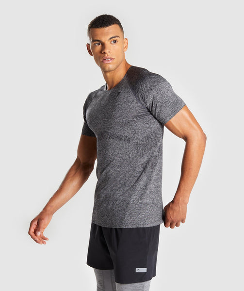 Gymshark Shadow Seamless T-Shirt - Black Marl 2