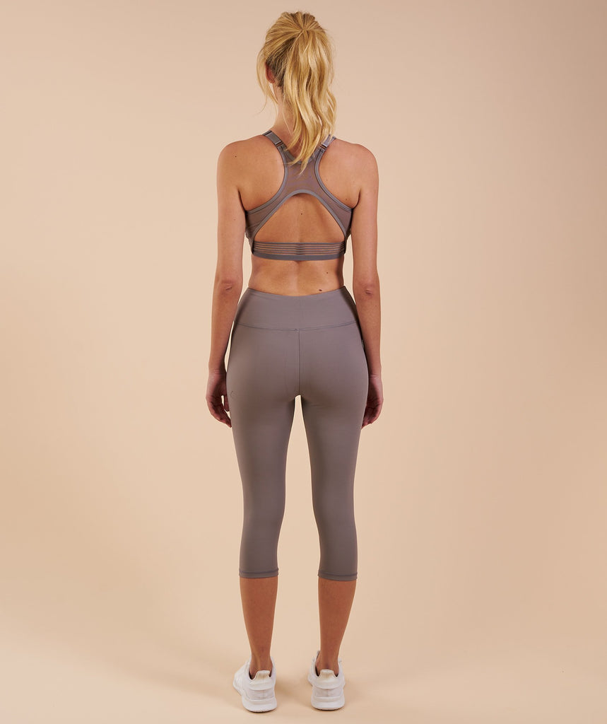 Gymshark Dreamy Cropped Leggings - Slate Grey 2