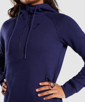 Gymshark Slim Fit Hooded Dress - Evening Navy Blue 12