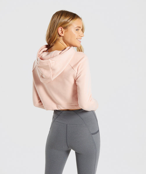 e2c983a1ad5f8f Gymshark Slounge Drawcord Hoodie - Blush Nude 1 ...