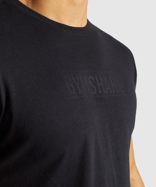 Gymshark Stamped Logo T-Shirt - Black 4