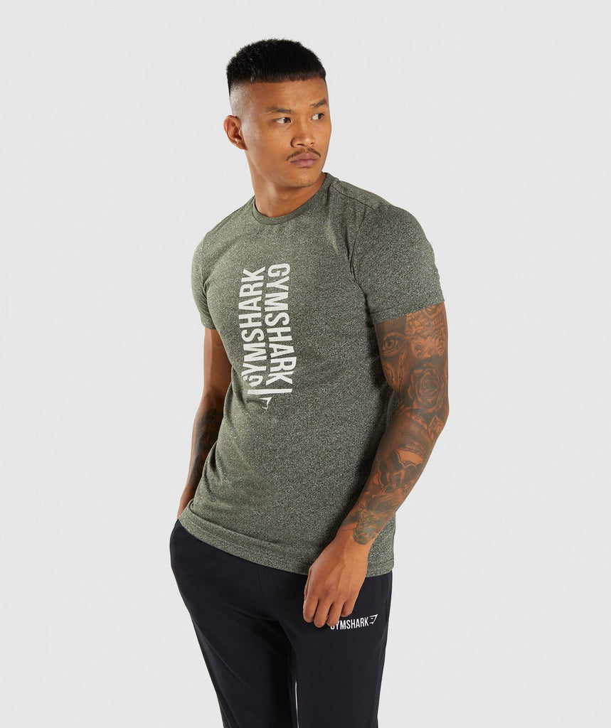 Gymshark Statement T-Shirt - Woodland Green Marl 1
