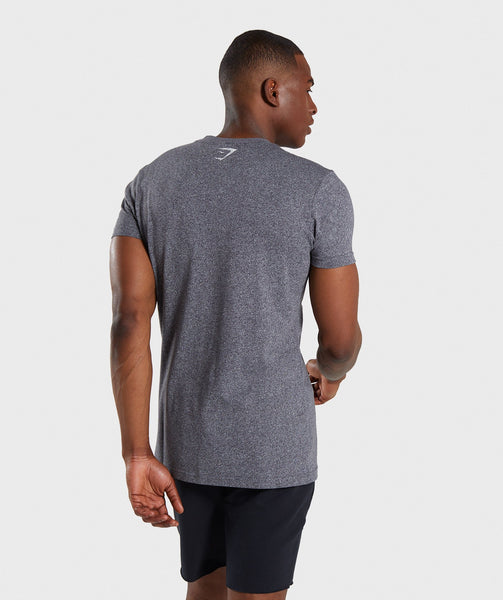Gymshark Statement T-Shirt - Charcoal Marl 1