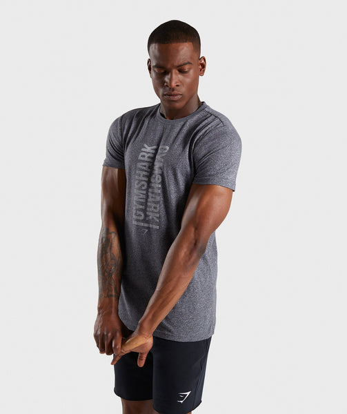 Gymshark Statement T-Shirt - Charcoal Marl 2