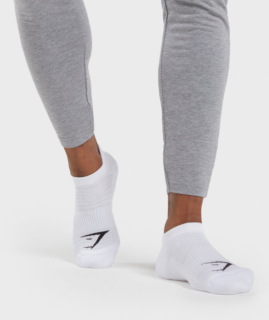 Gymshark Trainer Socks (3Pk) - White 1
