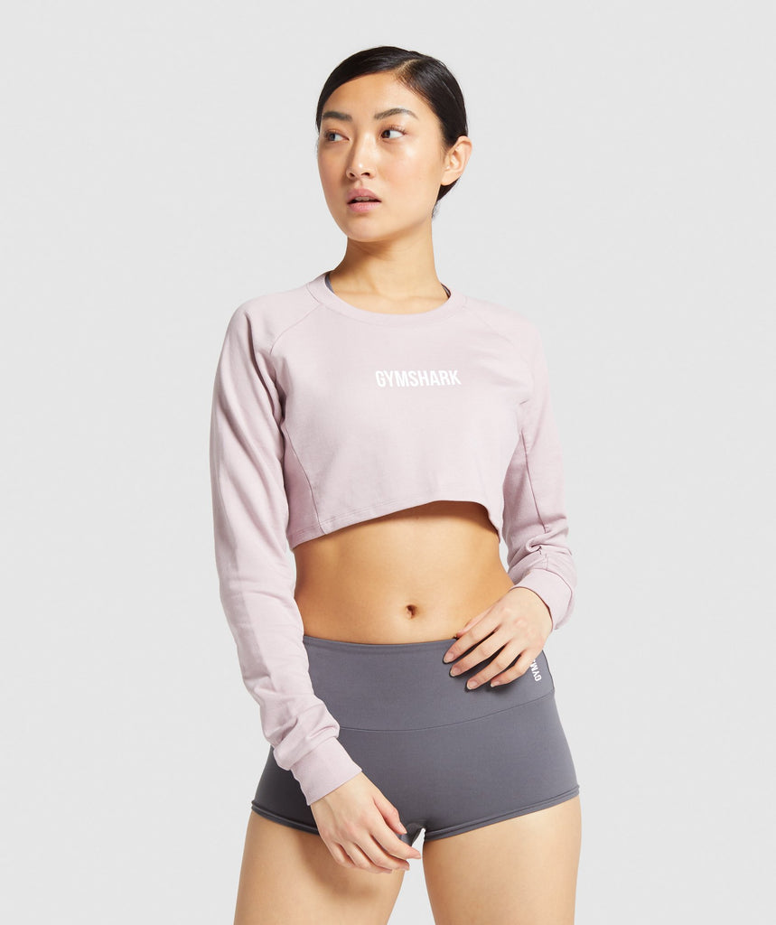 Gymshark Training Cropped Sweater - Pink 1