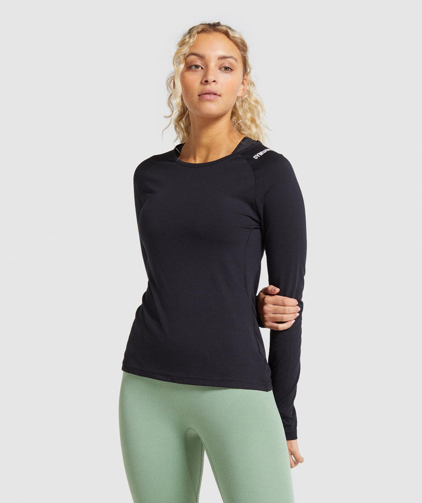 Gymshark Training Long Sleeve Top - Black 1