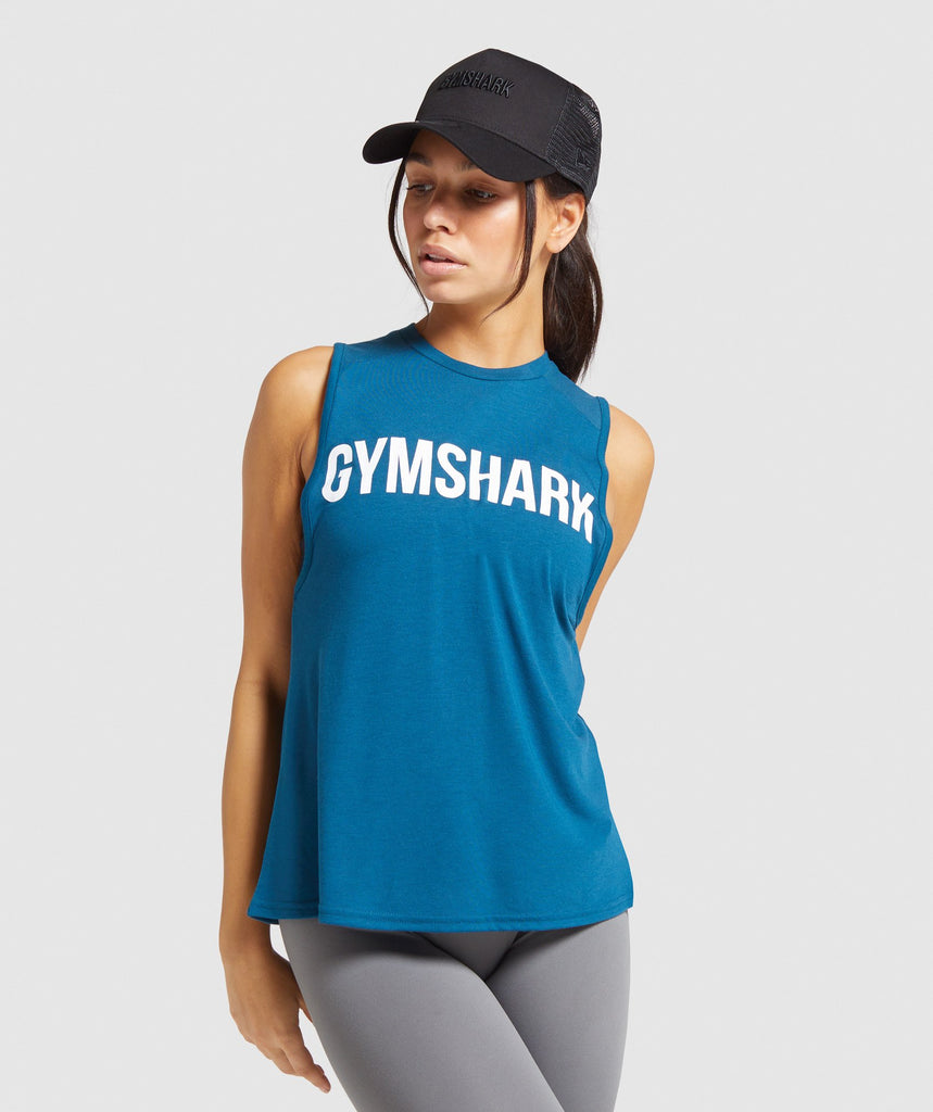 Gymshark Training Oversized Tank - Teal 1