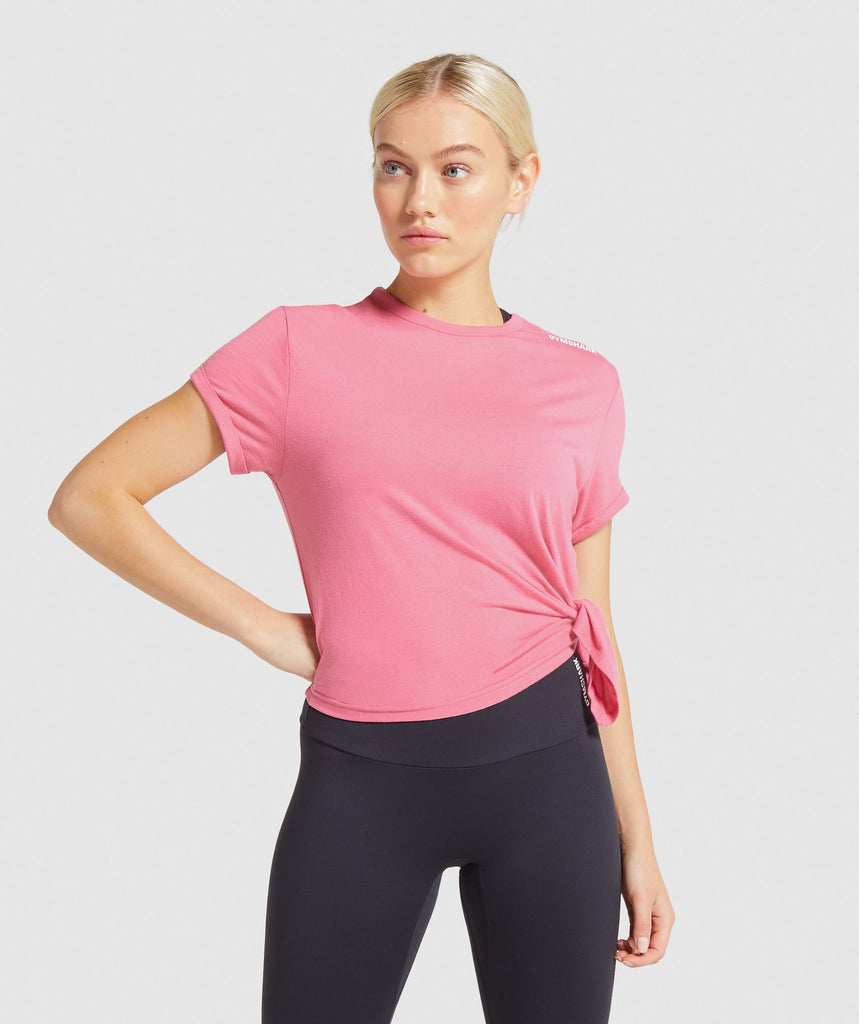 Gymshark Training Oversized Tee - Pink 1