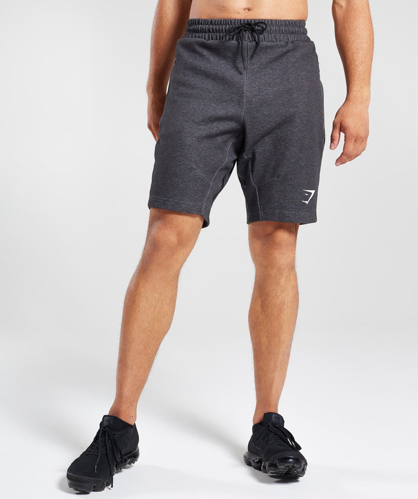 Gymshark Take Over Shorts - Black Marl 1