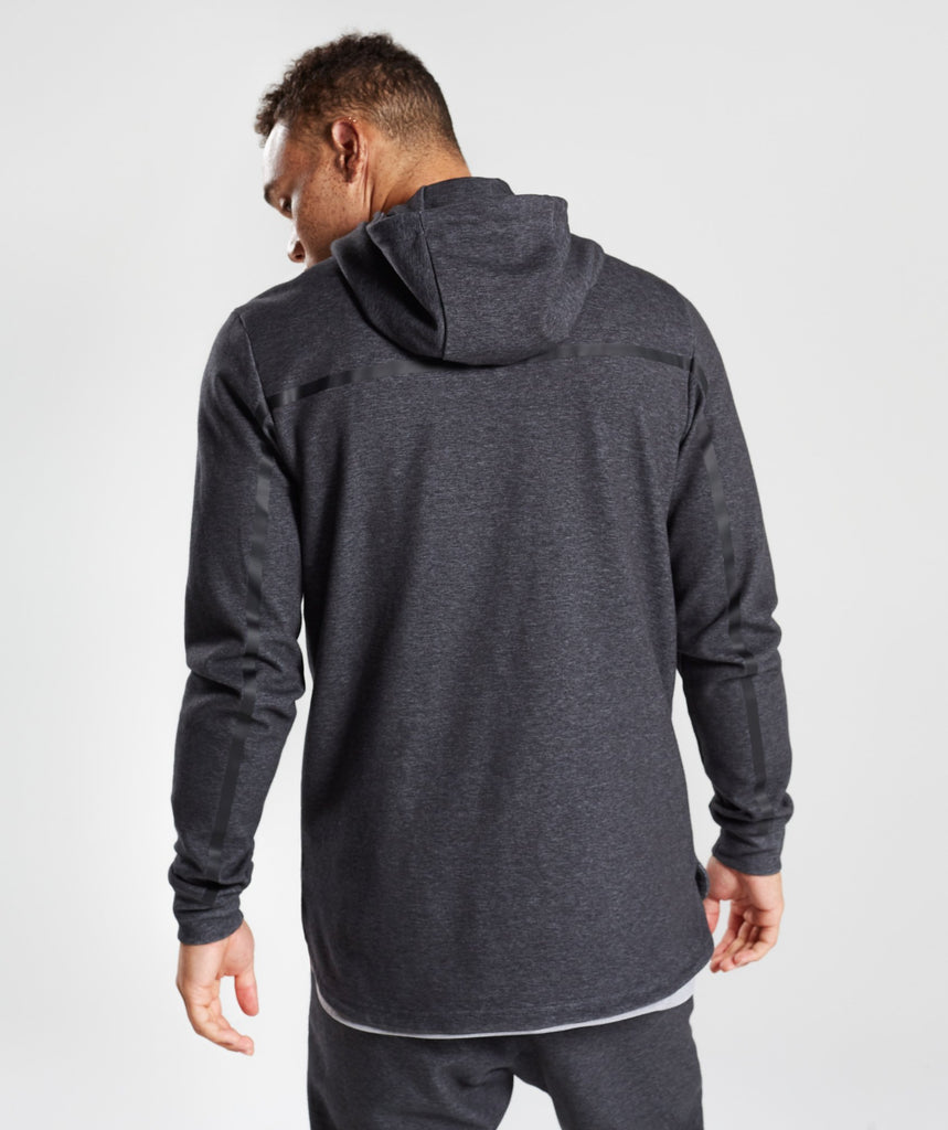 Gymshark Take Over Zip Hoodie - Black Marl 2
