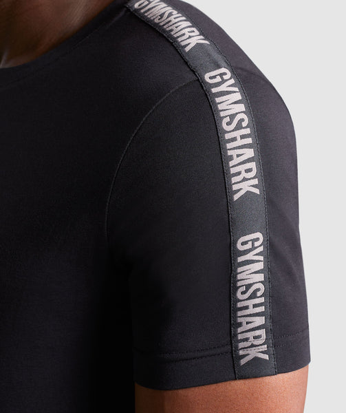 Gymshark Taped T-Shirt - Black 4