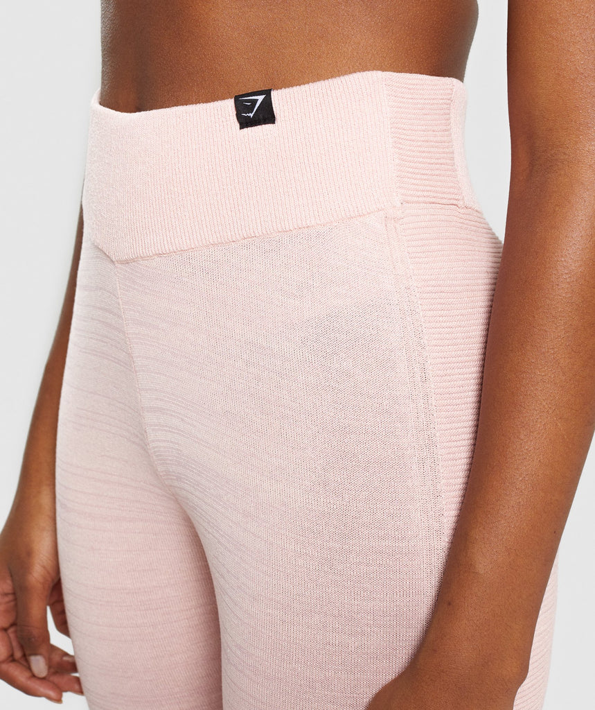Gymshark Time Out Knit Joggers - Blush Nude 6