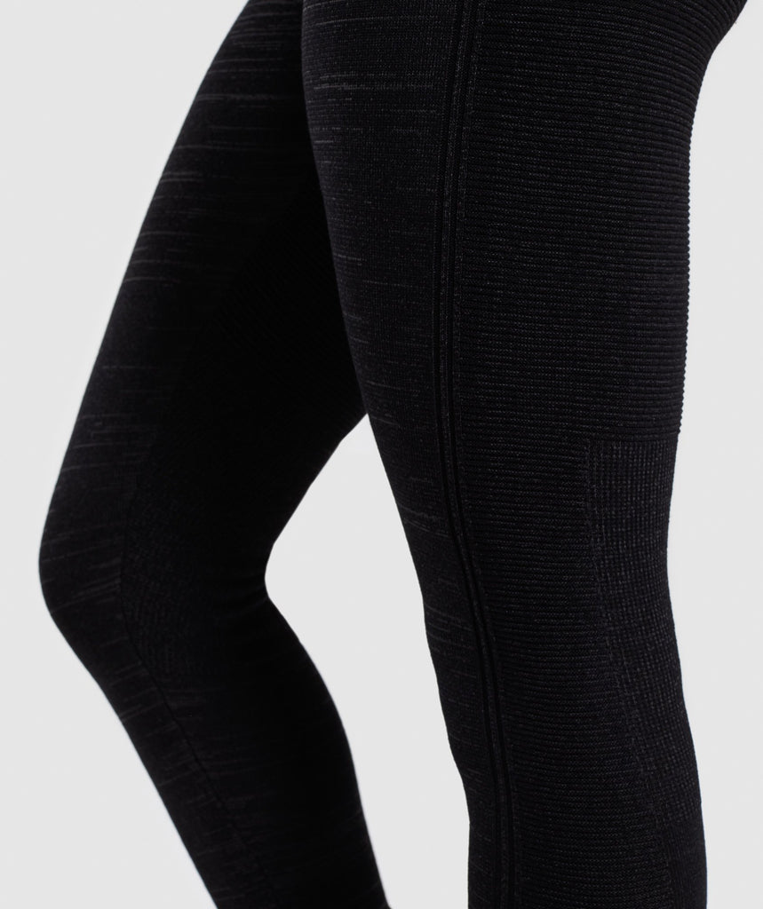 Gymshark Time Out Knit Joggers - Black Marl 6