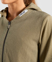 Gymshark True Texture Hooded Bomber Jacket - Washed Khaki 11