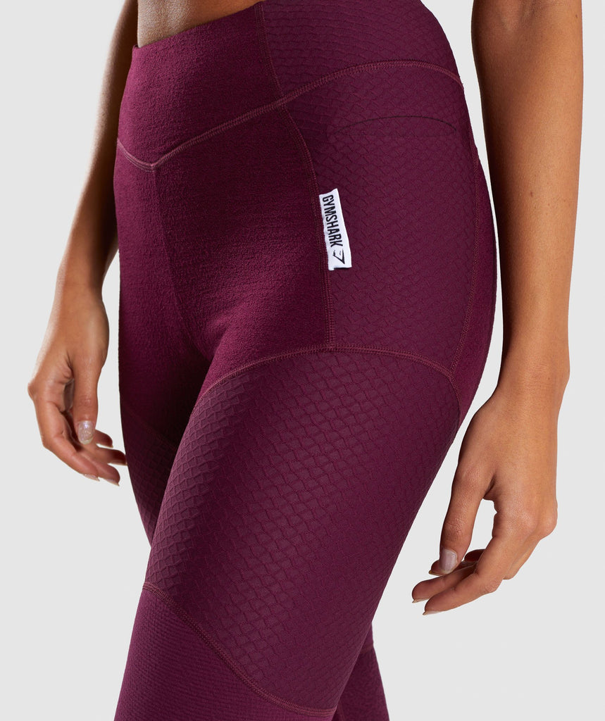 Gymshark True Texture Leggings - Dark Ruby 5
