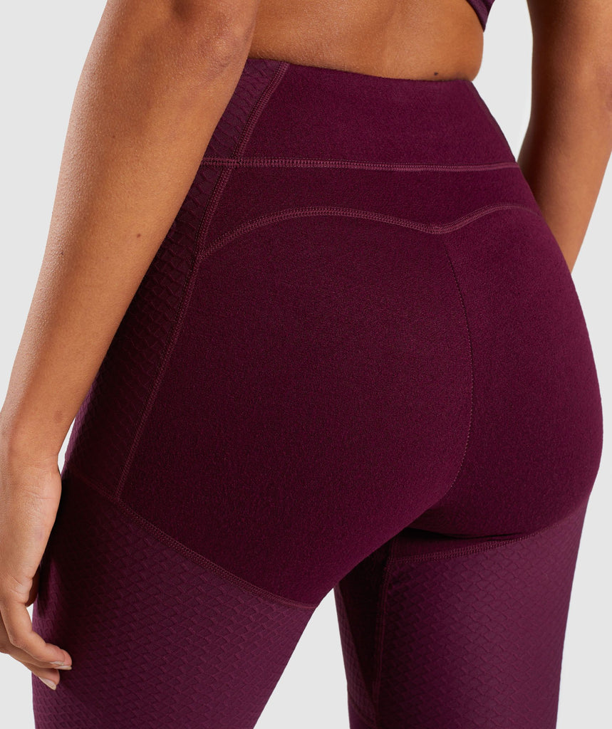 Gymshark True Texture Leggings - Dark Ruby 6