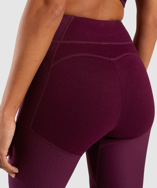 Gymshark True Texture Leggings - Dark Ruby 4