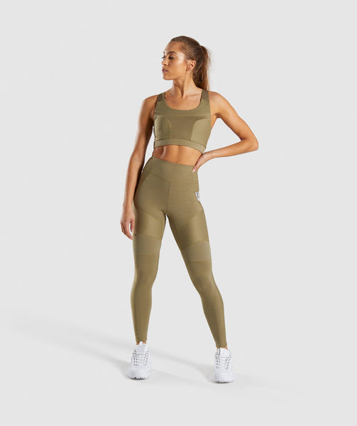 Gymshark True Texture Leggings - Washed Khaki 3