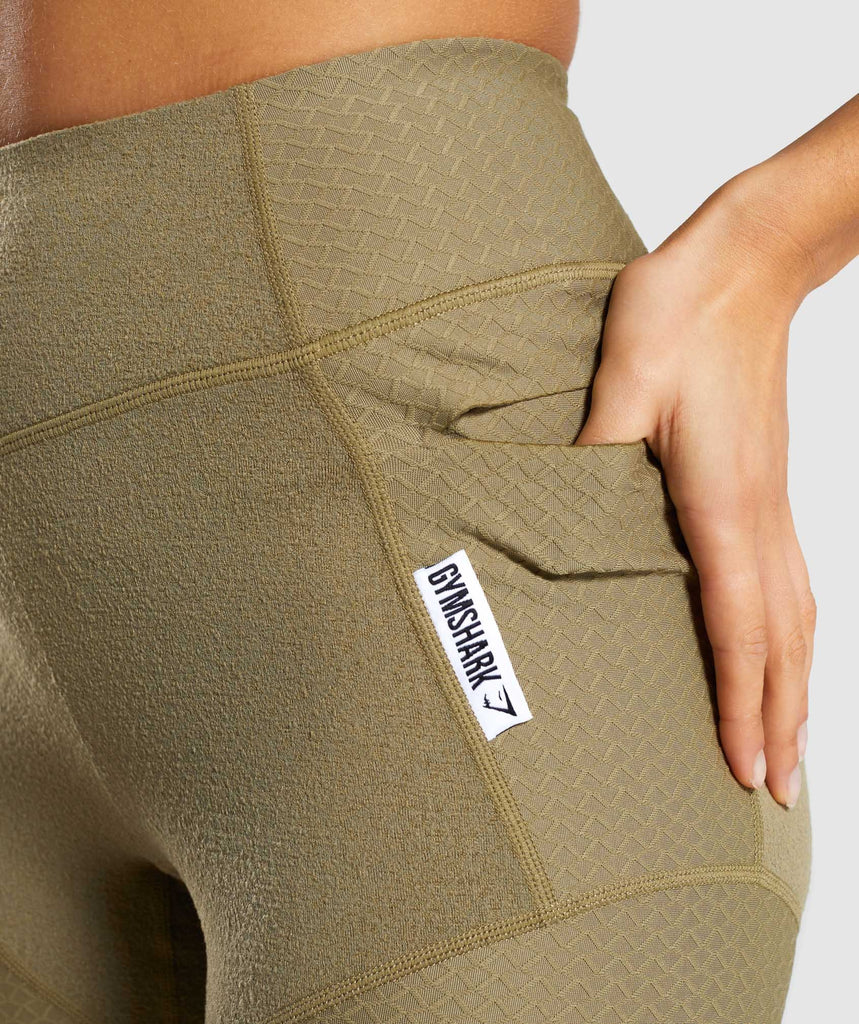 Gymshark True Texture Leggings - Washed Khaki 6