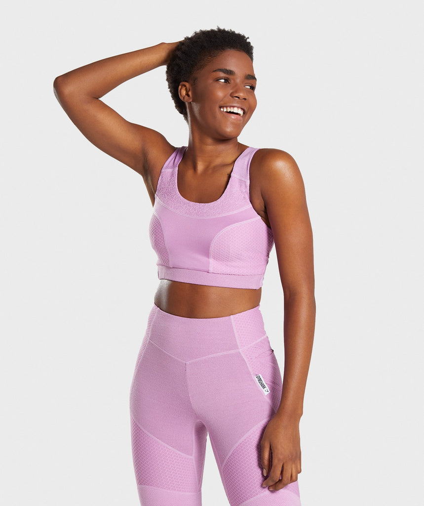 Gymshark True Texture Sports Bra - Pink 4