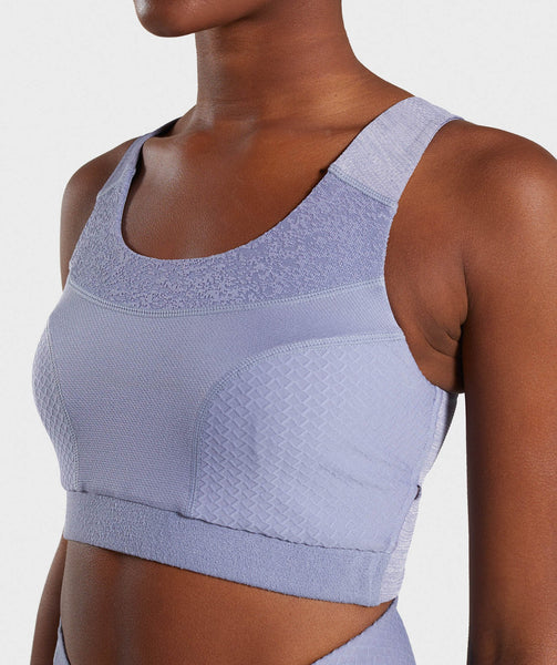 Gymshark True Texture Sports Bra - Steel Blue 4