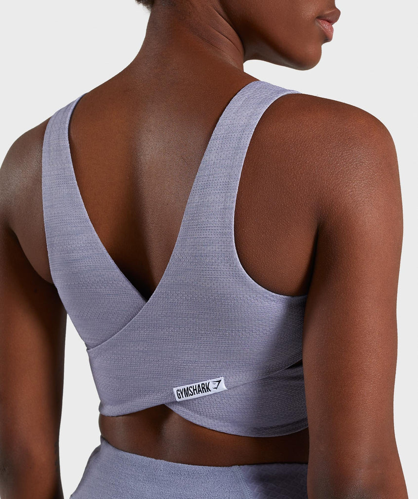 Gymshark True Texture Sports Bra - Steel Blue 6