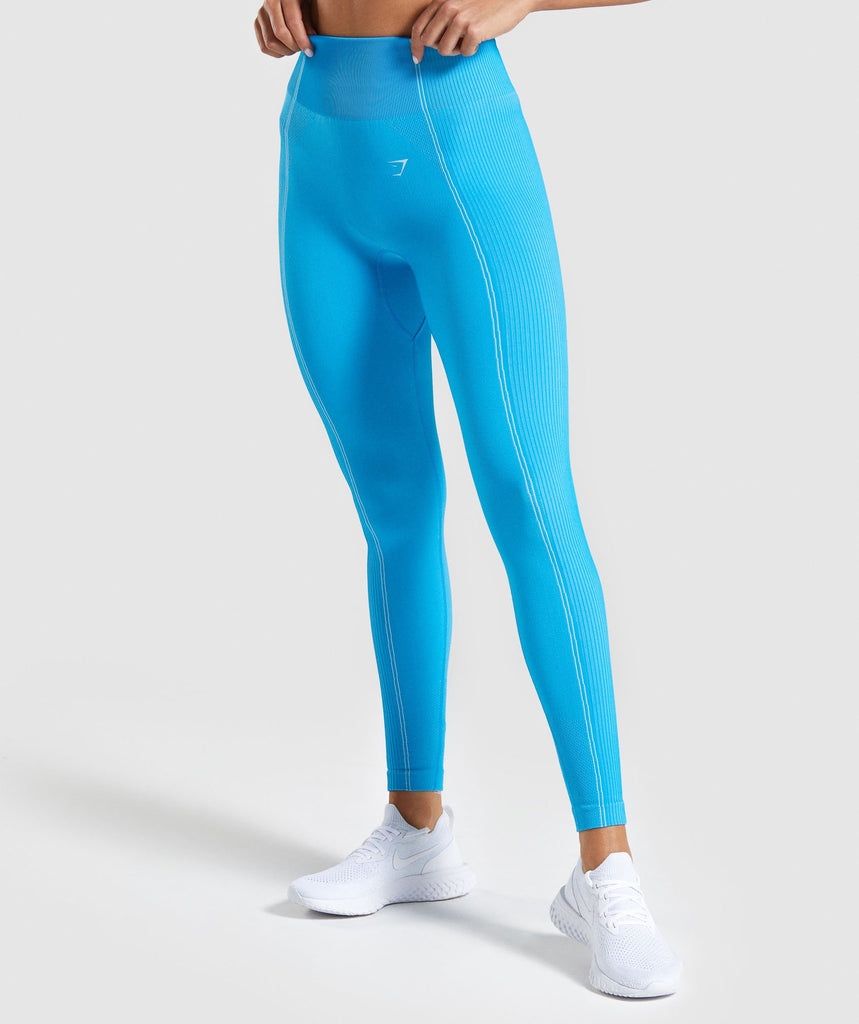 Gymshark Ultra Seamless Leggings - Blue 1