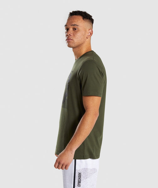 Gymshark Ultra Jacquard T-Shirt - Woodland Green 2